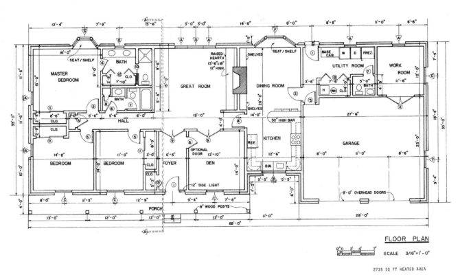 Floor Plans Country Homes Ranch House Plan