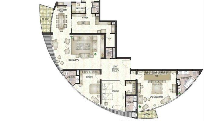 Floor Plans Darling Point Penthouse Apartment Plan