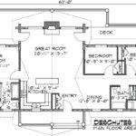 Floor Plans Deschutes Log Home Plan