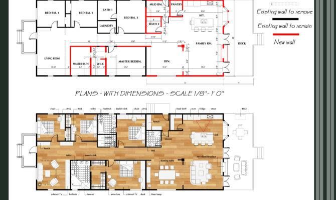 Floor Plans Designed Qarch Team Great Room Addition