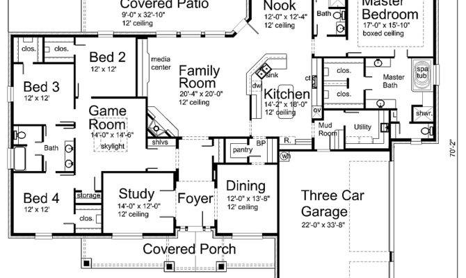 Floor Plans Houseplan Floorplan Single Story Plan House