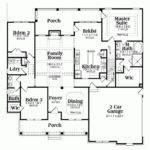 Floor Plans Ideas Porch Ranch House Design