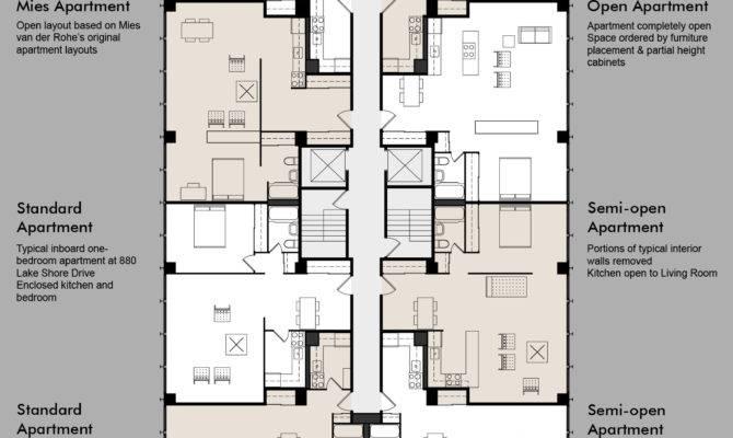 Floor Plans Including Standard Apt