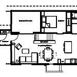 Floor Plans Living Room Gray Sofa Open