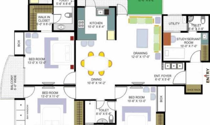 Floor Plans One Level House Job