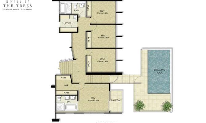 Floor Plans Residential Coloured