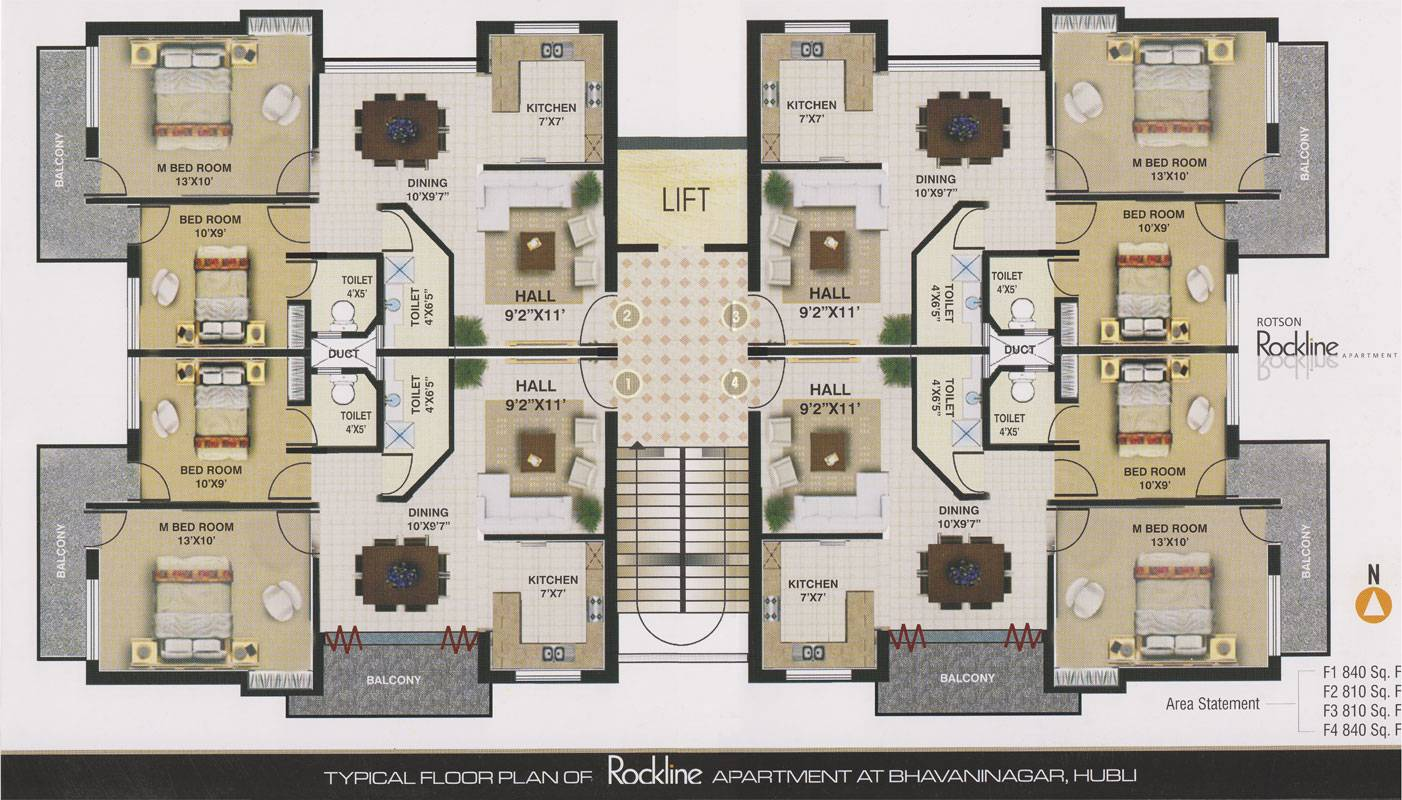 Floor Plans Rockline Apartment Home Plans Blueprints 56912