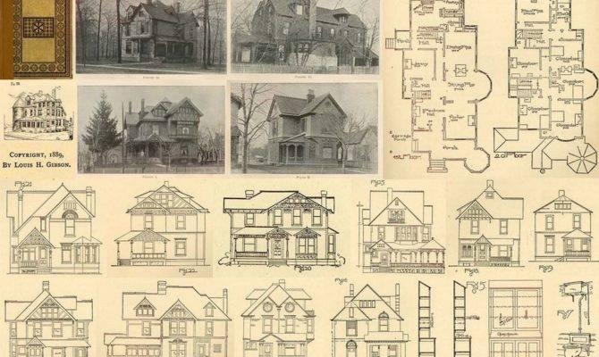 Floor Plans Victorian Era Plan Home Houses Ebay