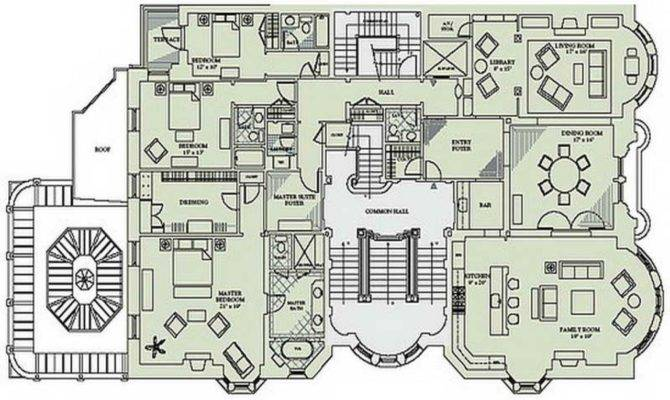 Floor Victorian Mansion Plans