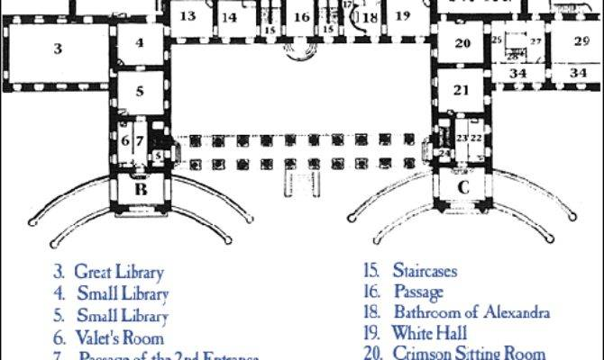 Floorplan Parade Halls Blog Alexander Palace