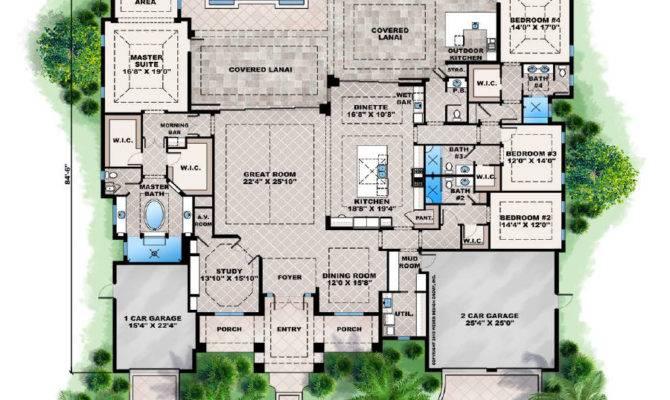 Florida Home Plans Pool Homes Floor
