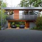 Forest House Design Entire Stilt Car Parking Garage