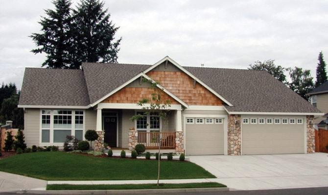 Forestland Craftsman Ranch Home Plan House