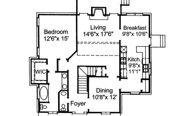 Fort Mill Country Salt Box Home Plan House Plans More