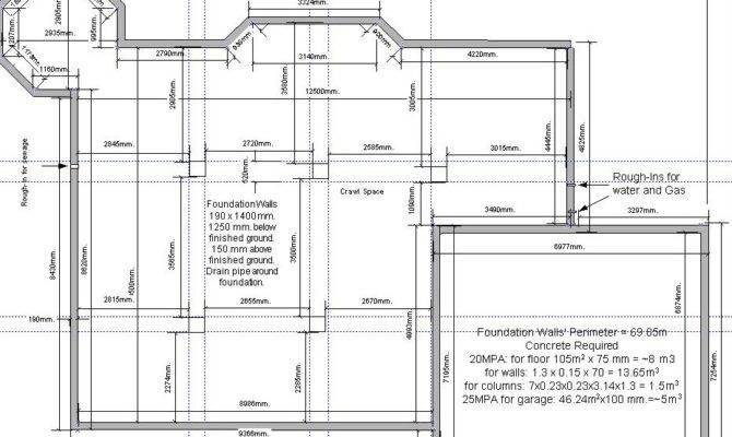 Foundation Plan Garage House Plans Home Designs