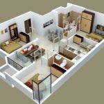 Four Bedroom Apartment House Plans Architecture Design