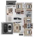 Four Bedroom Apartment House Plans Architecture Design