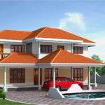 Four Bedroom House Elevation Feet Kerala Home Design