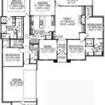 Four Bedroomed Single Storey House Plan Story Bedroom
