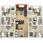 Four Bedrooms Building Plan Htjvj