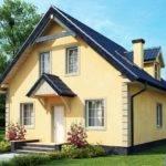 Four Room Attic House Plans Beige Plaster Integrate