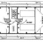 Frame Cabin Floor Plan Blueprint