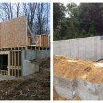 Frame Concrete Rear Wall Walkout Basement Ask