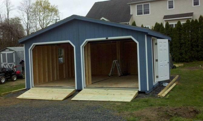Frame Doublewide Garage Storage Shed Duratemp Wood Ebay