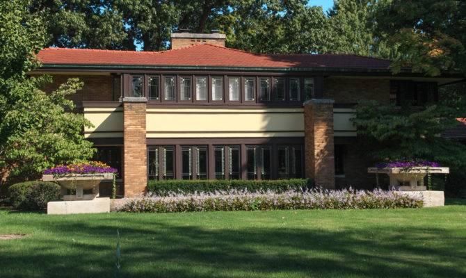 Frank Lloyd Wright Prairie Style House Plans