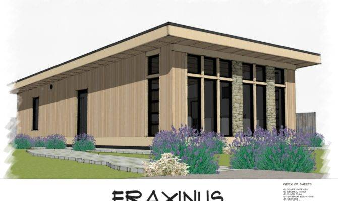 Fraxinus Modern Shed Roof Style House Plan