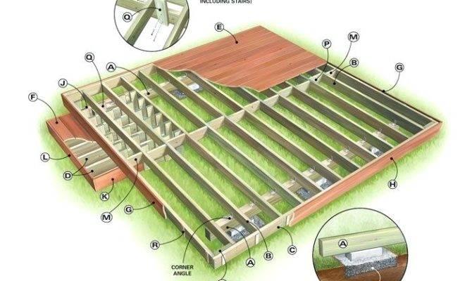 Freestanding Deck Plans Making Swimming Pool