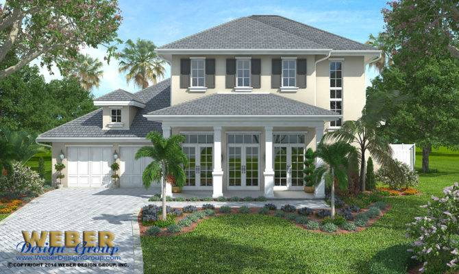French Colonial Home Plan Weston Weber Design Group