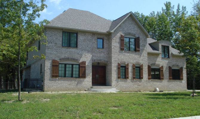 French Country Brick Homes Plans Floor Bedroom Bath Basement