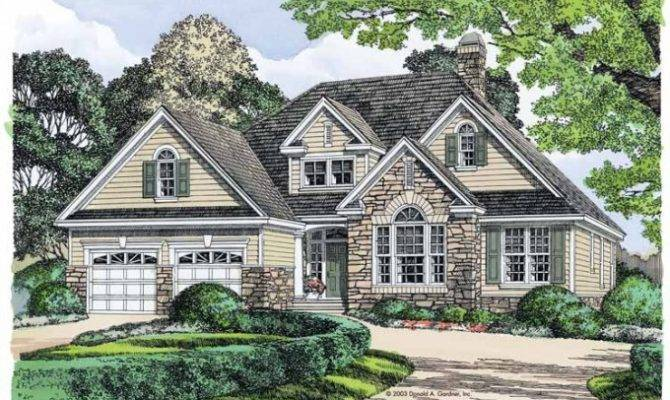 French Country Brick Stone House Plans Bedroom Bathroom Car