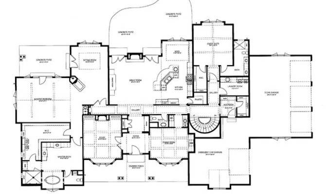 French Country Floor Plan Chateau Cornas Ecotecture