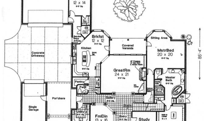 French Country House Plan Bedrooms Bath
