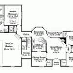 French Country House Plan Expansive Master Suite Square Feet