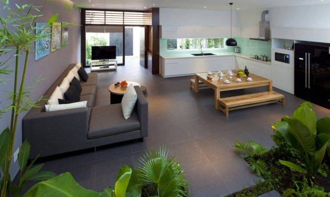 Fresh Home Open Living Area Internal Courtyard