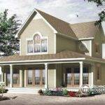 Front Base Model Season Chalet Lakefront Home Plan Two