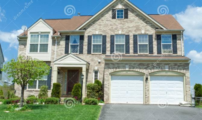 Front Brick Faced Single House Suburban