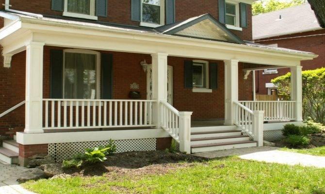 Front Deck Designs Exterior Wood Porch Railing