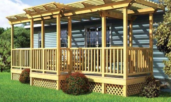 Front Deck Designs Mobile Home Porches Decks Plans Home Plans Blueprints 116282