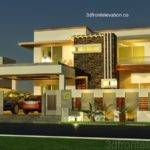 Front Elevation Kanal House Plan Layout