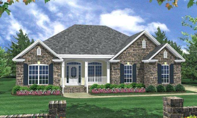 Front Exterior One Story House Designs Modern Home