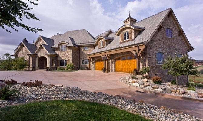 Front French Country New Home Traditional