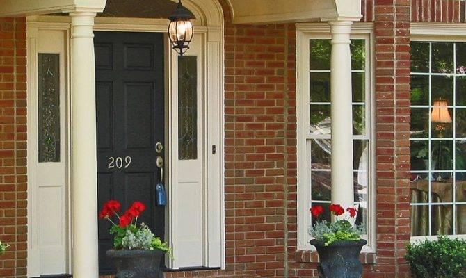 Front Porch Decorate Brick Porches Paver