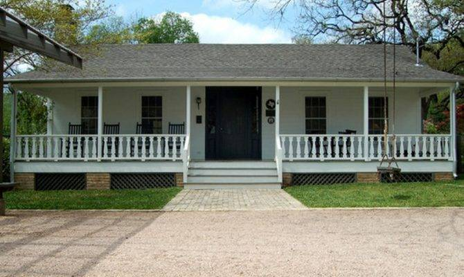 Front Porch Ranch Style House Small Designs