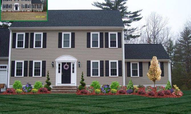 Front Yard Landscaping Colonial House Best Ideas