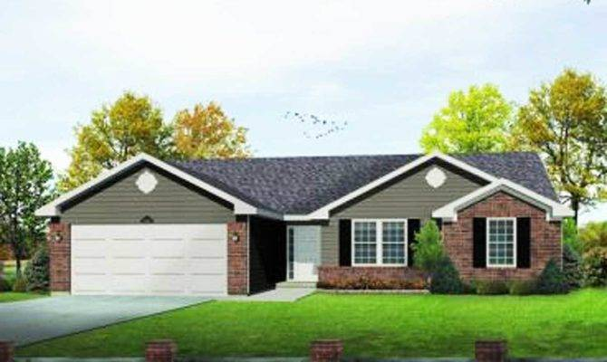 Functional Ranch Home Plan Architectural