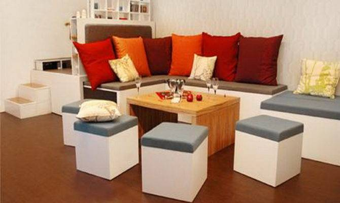 Furniture Contemporary Small Spaces Great Interior